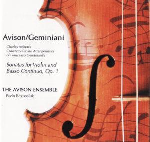 Cover CD Avison - divine art